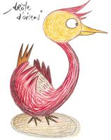 """Des tee-shirts : série """"Drôle d'oiseau"""""""