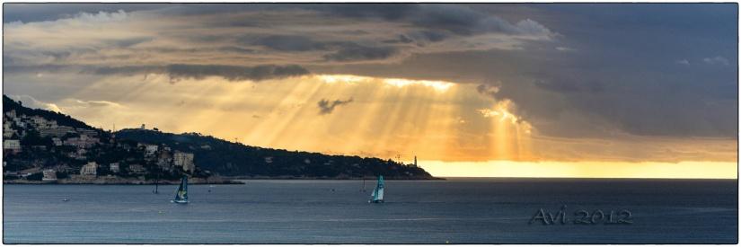 Lever de soleil sur la Baie des Anges