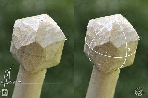 Tailler une sphère en bois avec un couteau #5
