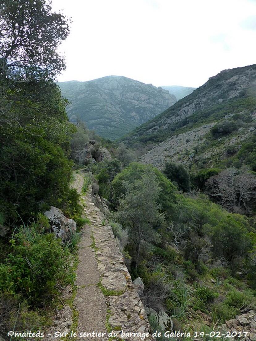 Sur le sentier du barrage de Galéria - Corse