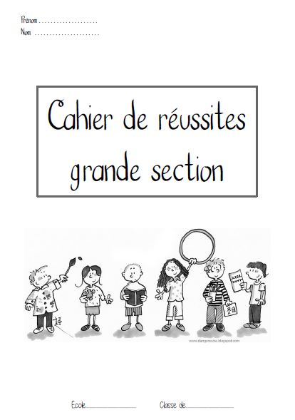 cahier grande section