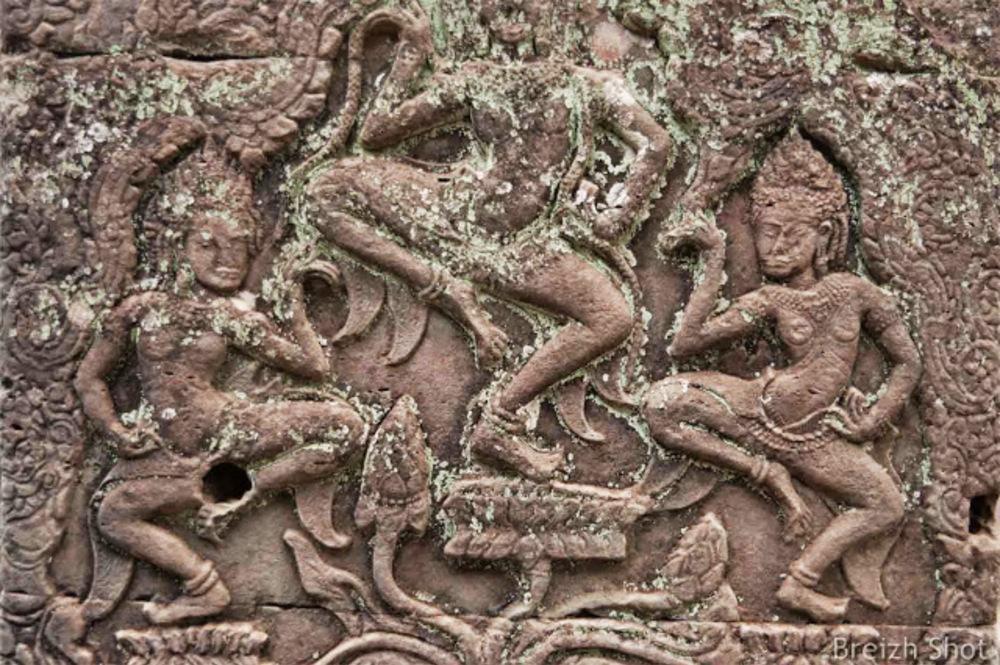 Angkor Thom, le Bayon - apsaras