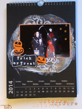 Trick or treat ou le calendrier 2014 - Octobre