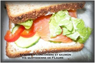 Sandwich saumon et concombre