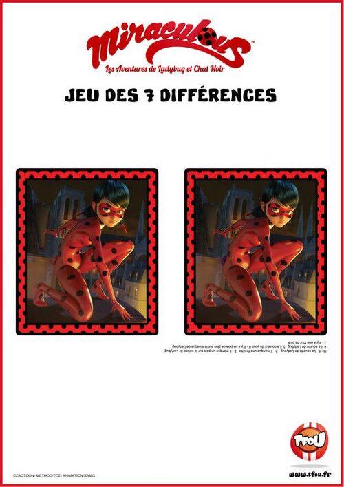 Les jeux des 7 différences