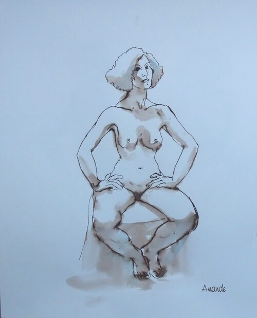 Clotilde assise