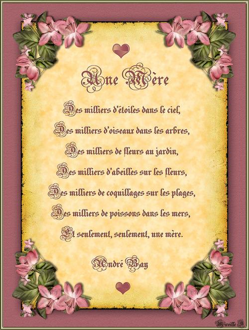 Poème pour la Fête des Mères