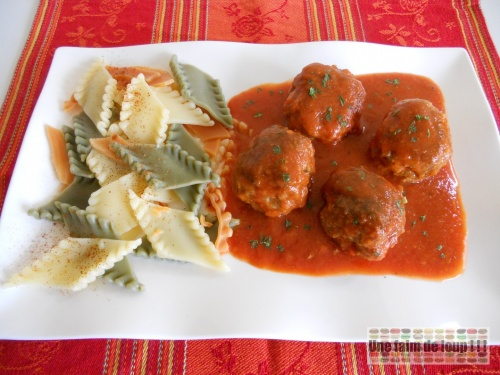 Boulettes sauce tomate