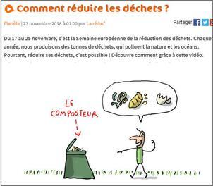 """""""Comment réduire les déchets """" sur 1jour, 1actu"""
