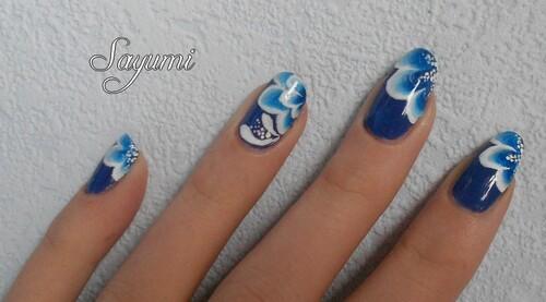 Nail Art de Cores Azuis