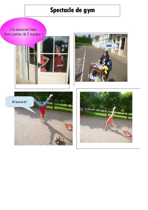 Spectacle de gymnastique - Beryl Mélyn Clara et Kelly