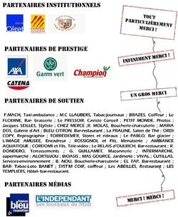 Les Partenaires du Festival.