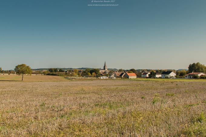 Le village de Thuré (86) pris en photo Samedi matin