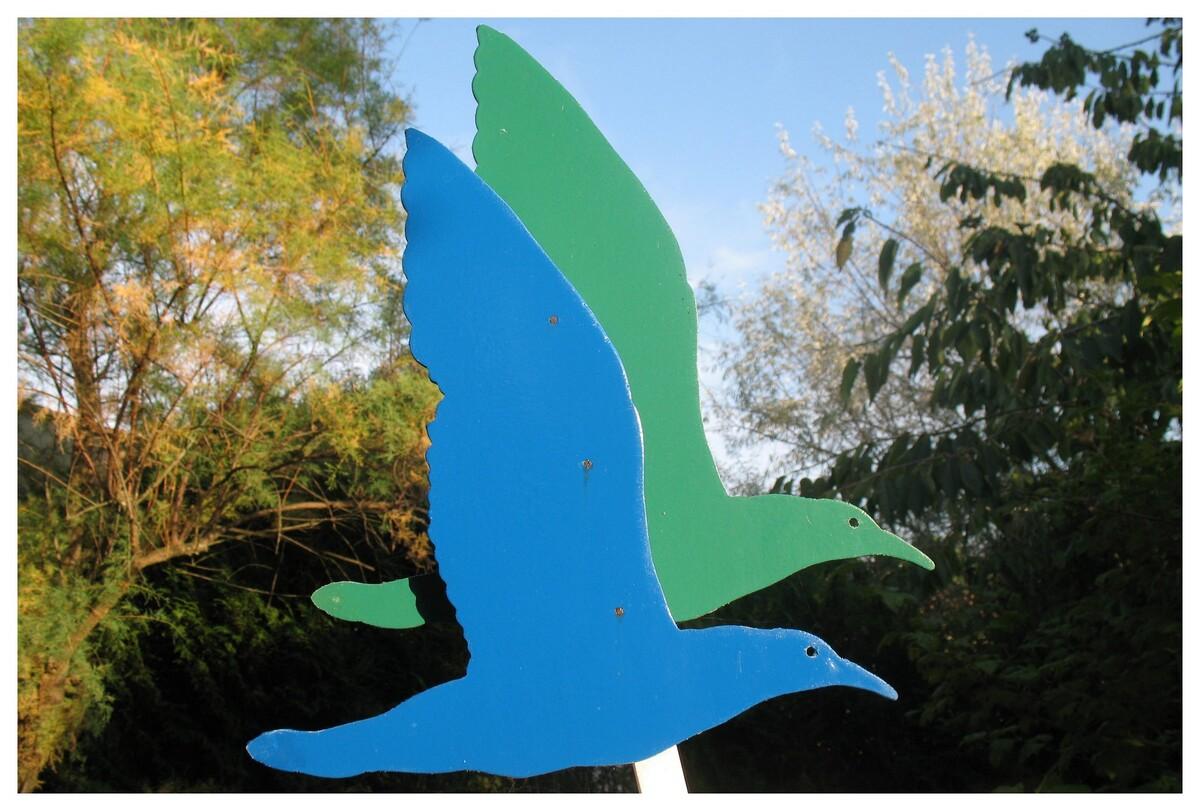 une verte, une bleue .... comme sur le logo de Charente-Maritime