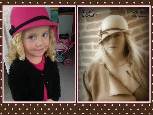 """quand ma fille joue à faire comme maman , photo illustrant les paroles """"les beaux yeux de la mama"""""""
