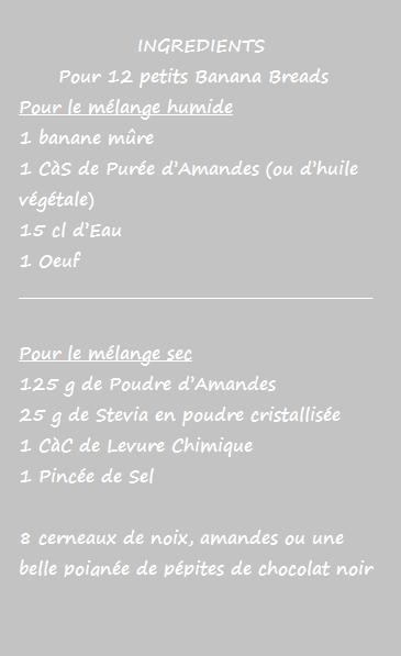 Banana Breads Light aux pépites de Chocolat - Sans gluten, sans beurre