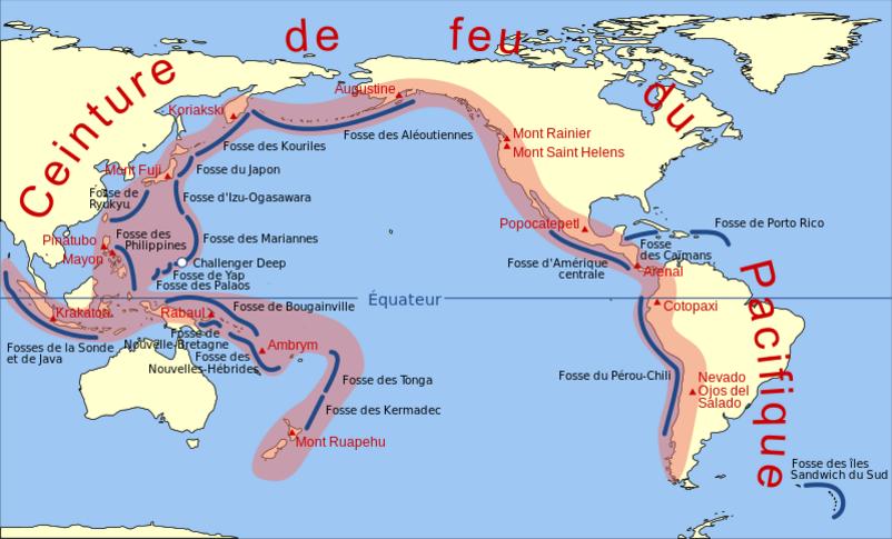 La répartition des volcans