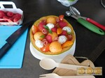 Salade de melon sucrée / salée
