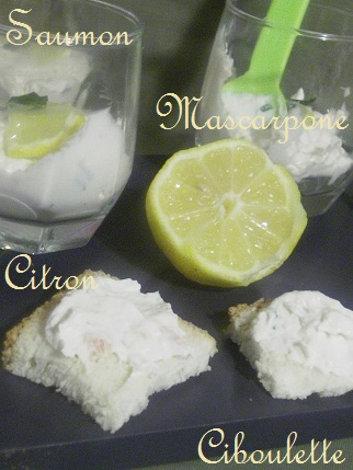 Verrine Saumon Mascarpone
