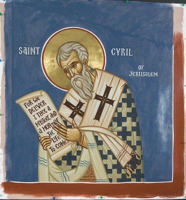 Saint Cyrille de Jérusalem. Evêque de Jérusalem, docteur de l'Eglise († 387)