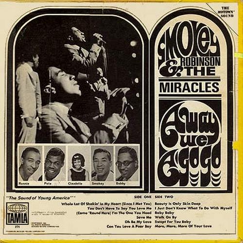 "Smokey Robinson & The Miracles : Album "" Away We A Go-Go "" Tamla Records TS 271 [ US ]"
