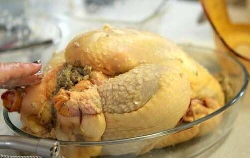 Recette de cuisine: Chapon farci aux marrons et foie gras