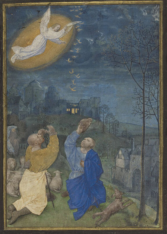 Fichier:Annunciation to the Shepherds miniature.jpg