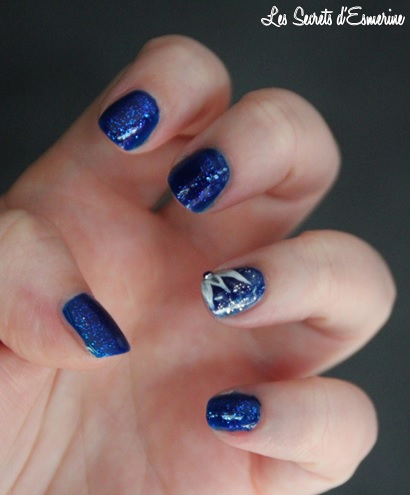 Like a Star Light... Ou le Kiko qui a fait Flop ! nail art, kiko, les secrets d'esmerine, ink blue