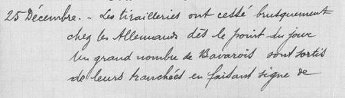 Les fraternisations durant 14-18 : la trêve de Noël 1914