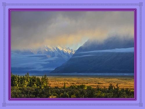 La vue depuis la montagne