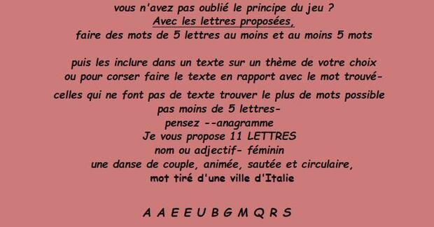 Jeu de Lettres 196