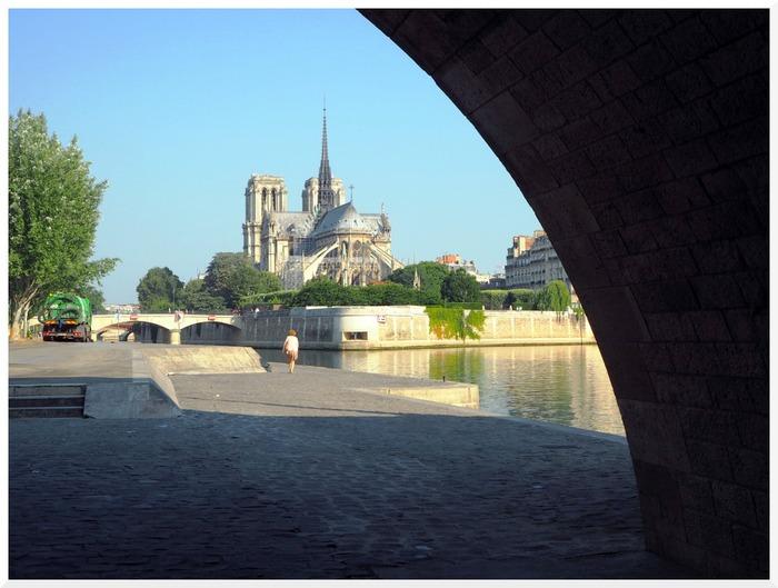 Bord de Seine à Paris.