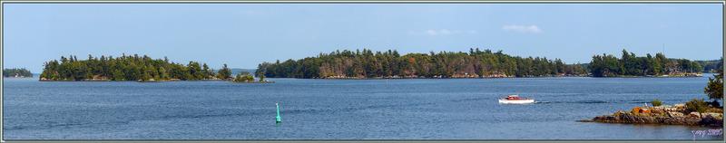 Paysages aquatiques sur le Saint-Laurent - Thousand Islands (Les Mille-Îles) - Gananoque - Ontario - Canada