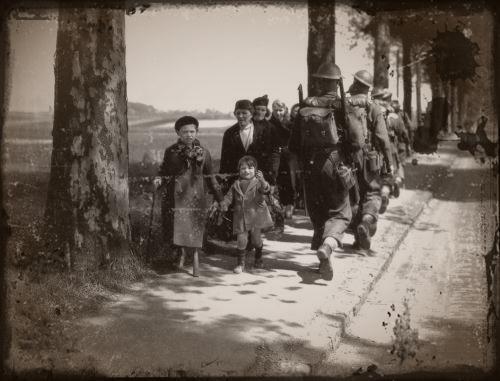 sur les routes  de l'exode en 1940