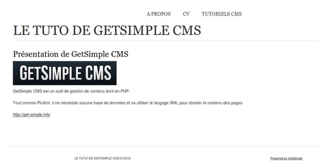 Installer GetSimple CMS sur Centos 7