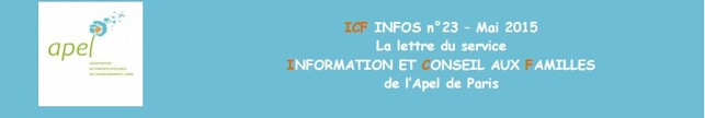 ICF INFOS n°23 - mai 2015
