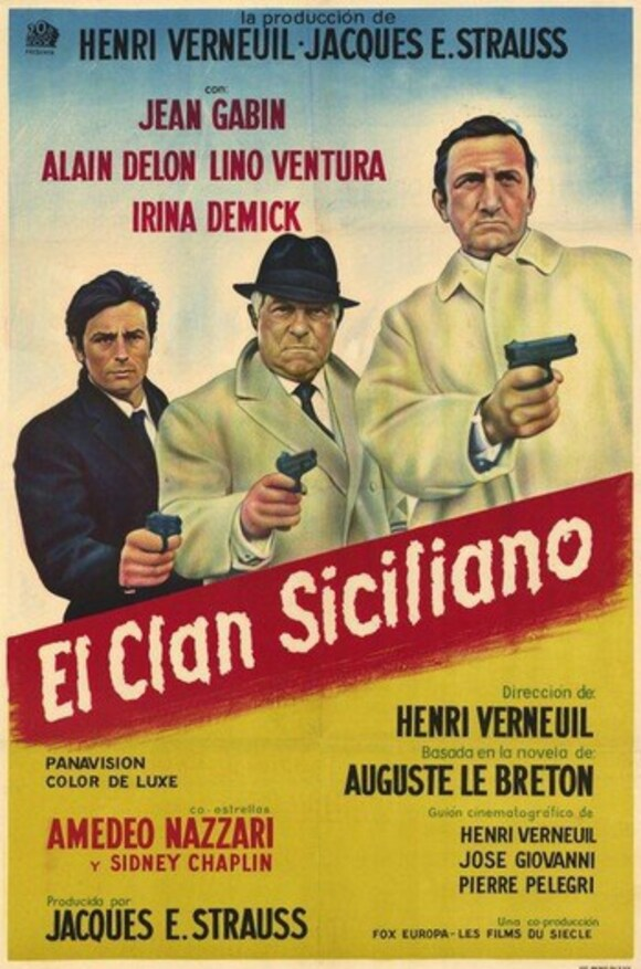 LE CLAN DES SICILIENS - BOX OFFICE ALAIN DELON 1969