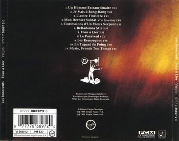 Frenchy But Chic # 53 (à 100 j'arrête!) : Les Innocents - Fous à lier (1992)