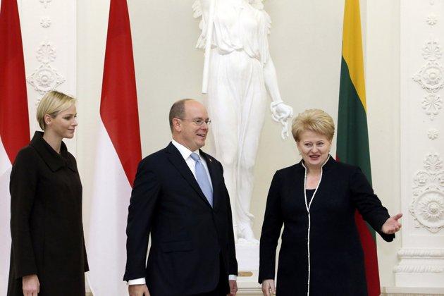 Charlène et Albert en Lituanie
