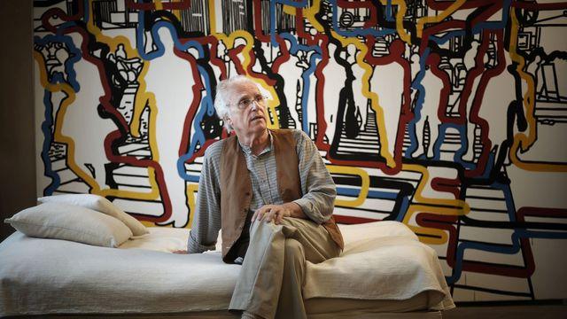 Gérard Fromanger dans son atelier, le 13 juin 2008 à Paris