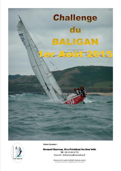 Samedi 1° août , chalenge du BALIGAN, régate pour voiliers habitables