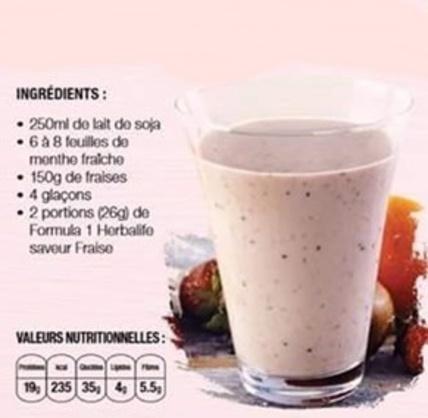 Délice de verdure et fraise-menthe