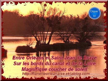 Coucher de soleil sur les bords de la Loire