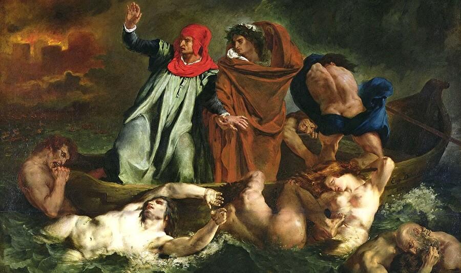 Cézanne 7 /              1870- le déjeuner sur l'herbe -la barque de Dante
