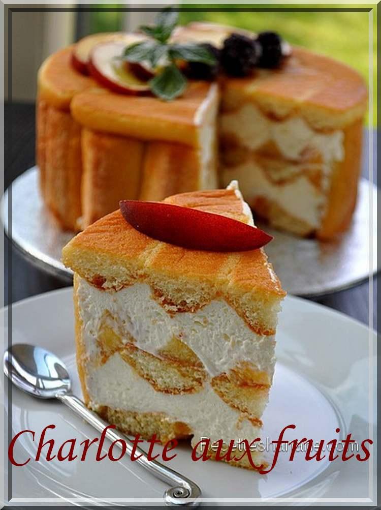 Recette de cuisine : Charlotte aux fruits
