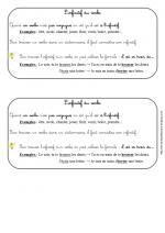 Infinitif du verbe (leçon ce1)