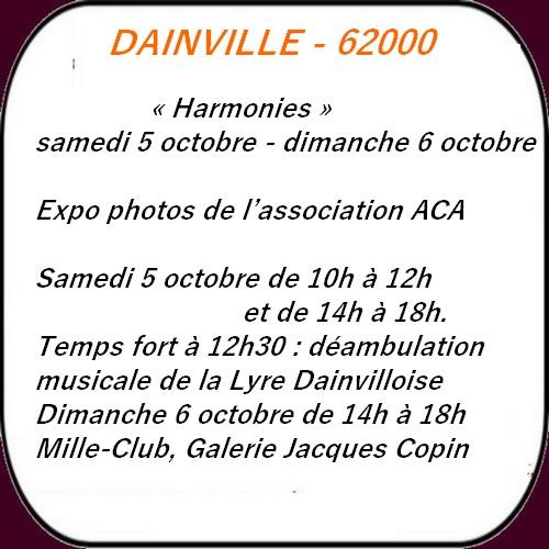 Les loisirs à Arras et ses environs 1er week-end d'octobre.