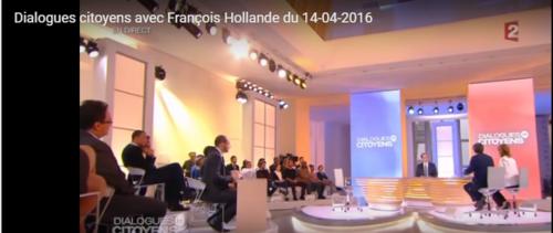 Hollande dialogue avec lui-même