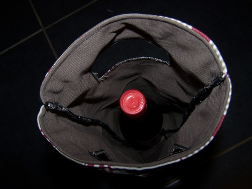 Après le sac à tarte, le sac à vin! (tuto)