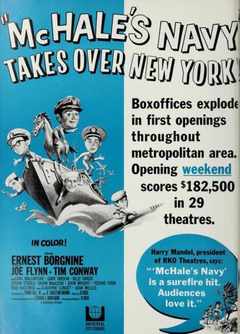 BOX OFFICE USA DU 13 JUILLET 1964 AU 19 JUILLET 1964